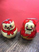 クリスマスオーナメント  ロシアのハンドメイド   スノーマン&くるみ割り人形