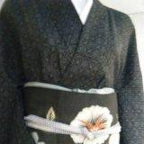 能登上布手織り絣着物